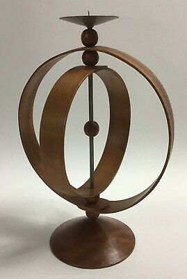 Charles and Ray Eames Wood Spherical Geometric Bent Wood Candle Holder