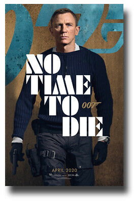 """No Time To Die Poster Movie 11""""x17"""" James Bond 25 Gloves SHIPS SAMEDAY FROM USA"""