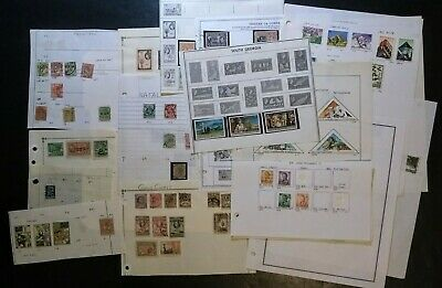 BRITISH COLONIES, AFRICA, M/U STAMPS LOT on Misc pgs NATAL, W. SAMOA, TRANSVAAL