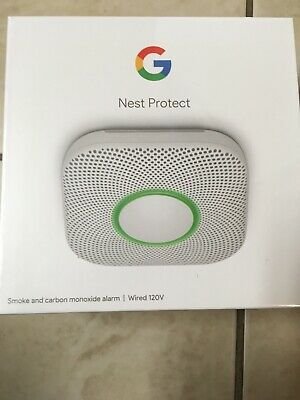 Nest Protect 2nd Generation Wired Smoke and Carbon Monoxide Detector S30003LWES