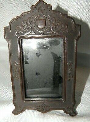"Art Nouveau Original Picture Frame With Metal Back & Easel Stand~6 1/8"" X3 3/4"""