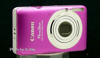 CANON ELPH 100 HS PINK MECHANICALLY RECONDITIONED DIGITAL CAMERA-12.1 Megapixel