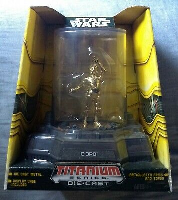 2006 Hasbro Micro Machines Star Wars C3PO Titanium Series Die Cast Figure