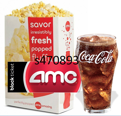 2 AMC Black Tickets, 2 Large Drinks, and 2 Large Popcorn fast e-delivery