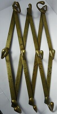 W. Tonks and Son Victorian Brass Wrapped Expanding Coat Hanger Design Reg. 1873