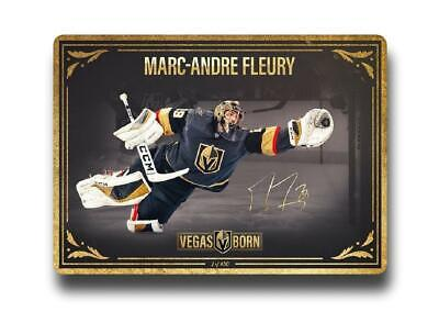 "Marc-Andre Fleury ""The Save"" 11/20 Vegas Golden Knights Poster #D/450 vs Toronto"
