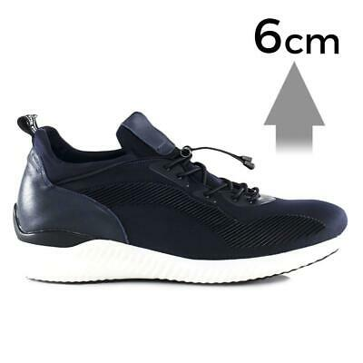 Mr. Bolt 6cm | 2.4 inches Taller Blue Casual Lifter Shoes For Men