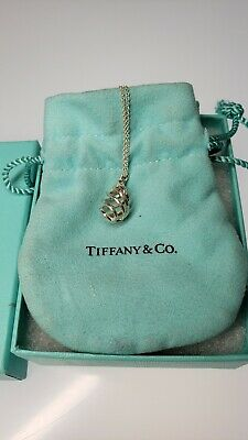 Tiffany & Co Pendant Necklace Paloma Picasso  Sterling Silver  w/ Pouch/box