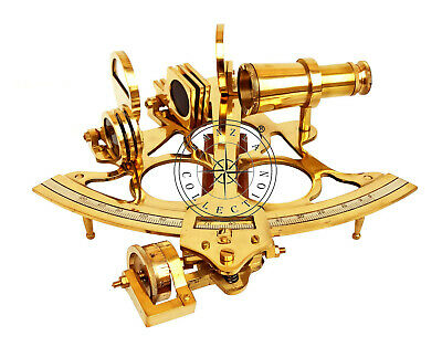 Nautical Maritime Navigation Brass Ship Sextant Astrolabe Collectible Gift