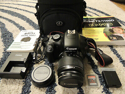 Canon EOS Rebel T3 Digital SLR Camera - Black (Kit w/ EF-S 18-55mm IS II + More!