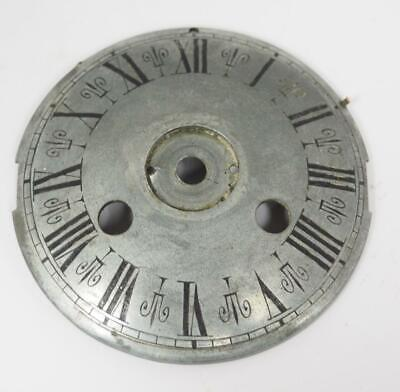 Antique French Silver Convex Metal 8 Day Mantle Clock Dial - Clock Spares