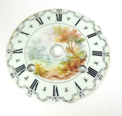 Antique French Sevres Enamel Porcelain 8 Day Mantle Clock Dial - Clock Spares