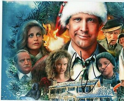 Autographed Chevy Chase signed 8 x 10 photo Christmas Vacation