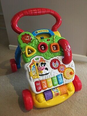 Baby Vtech First Steps 2 in 1 Musical Activity Centre Push Along Walker