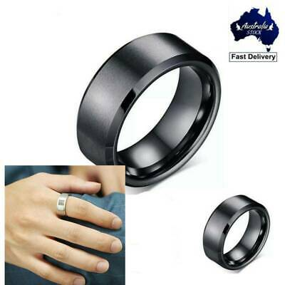 Titanium Stainless Steel 8mm Brushed Finish Wedding Band Ring for Men Women