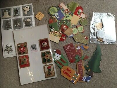 Craft destash - Mixed bundle of various Christmas card toppers/papers CD017