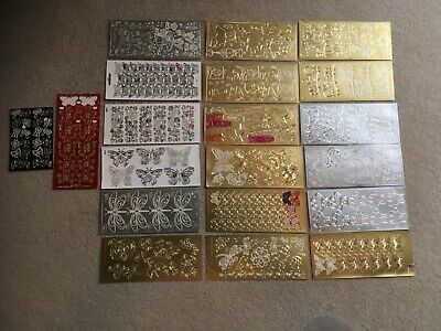 Craft destash: Mixed bundle 20 partially used peel-off stickers - CD09