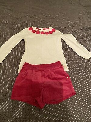 Girls Ted Baker Pink & White Top And Shorts Set - Age 5-6 Years