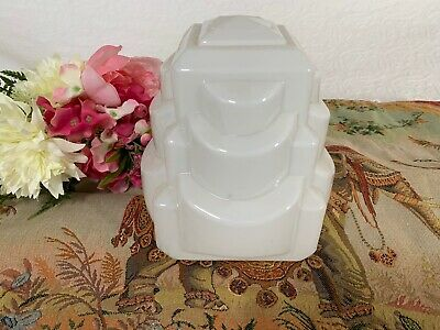 Vintage Art Deco Style Milk Glass Lamp Shade~Light~Architectural