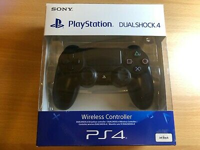 Official PS4 Playstation 4 Dualshock Controller - Wireless Bluetooth - Jet Black