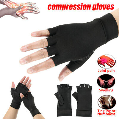Arthritis Compression Gloves Hand Joint Pain Relief Wrist Support Fingerless''