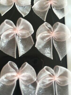 Pale Pink Organza Small Ribbon Bundle Cardmaking/Scrapbooking LotP4 BUY2GET1FREE