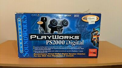 Creative Playworks ps2000 digital speaker(Playstation 2, PC)Cambridge Soundworks