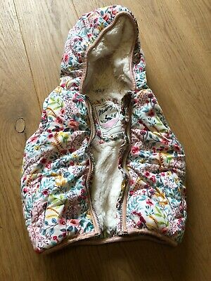 Girls Mantaray floral Gilet 2-3yrs Girls Warm Winter Coat Gillet