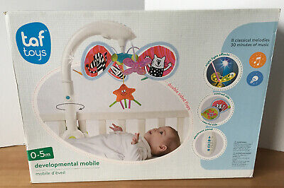 Taf Toys Developmental Cot Baby Mobile Toy with Melodies & Night Light Effect