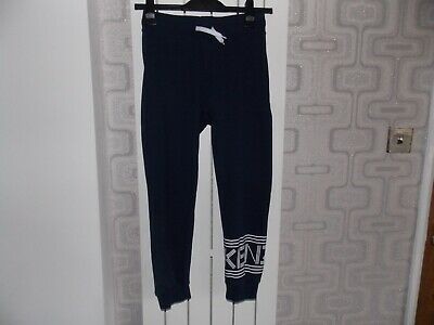 Genuine Kenzo Slim Fit Boys Navy Blue Joggers Sweatpants Age 12