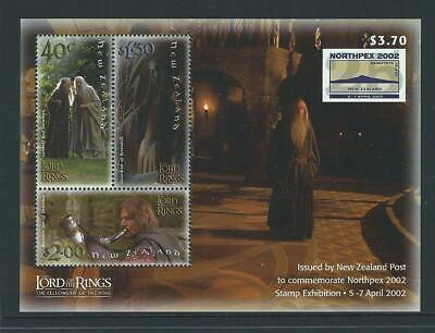 New Zealand 2002 MNH MUH M/S - Northpex 2002 Stamp Exhibition - Lord of Rings.