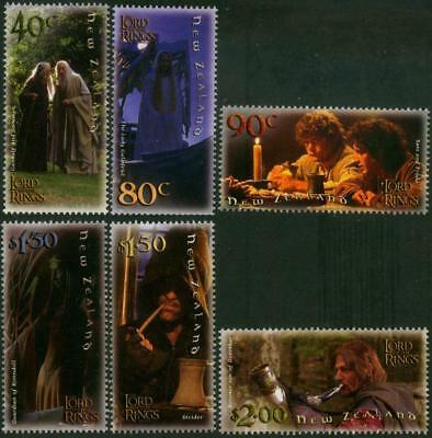 New Zealand 2001 MNH MUH Set - Lord of Rings Film Trilogy - Fellowship of Ring.