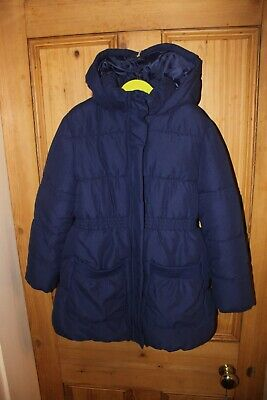 New John Lewis Girl Dark Blue Quilted Winter Coat. Hooded. Age 10 yrs NWOT