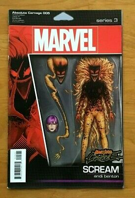 Absolute Carnage #5 Christopher Action Figure Variant Cover Marvel Comics Vf/Nm