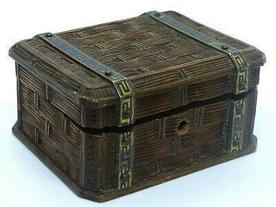 Antique 19th Century French Carved Wooden / Brass Table Box / Casket – TAHAN?