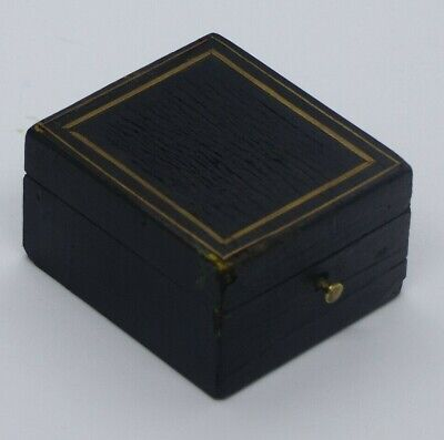 Small Antique Napoleon III Late 19th Century Ebonised / Brass Inlaid Box