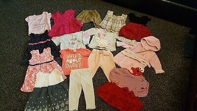 Large Bundle Of Baby Girl 9 to 12 months Outfits Clothes