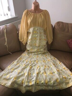 Ladies Women Authentic Traditional African Nigerian Outfit Yellow