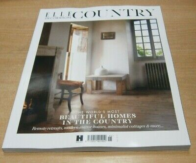 Elle Decoration Country magazine Volume 15 2019 World's Most Beautiful Homes &
