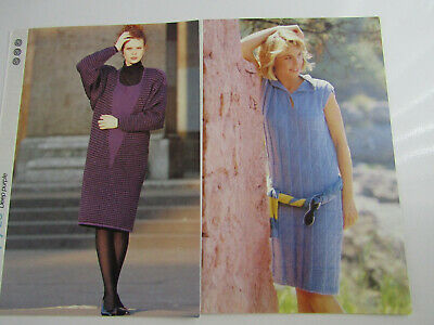 2 x Knitting Patterns for Womans Knitted Dresses Knitting Patterns