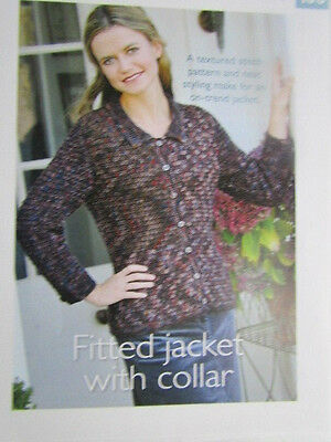 Art of crochet Ladies Fitted Jacket Crochet Pattern [from magazine]
