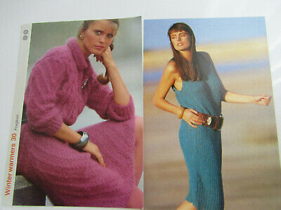 2 x Knitting Patterns for Womans Winter & Summer Dresses