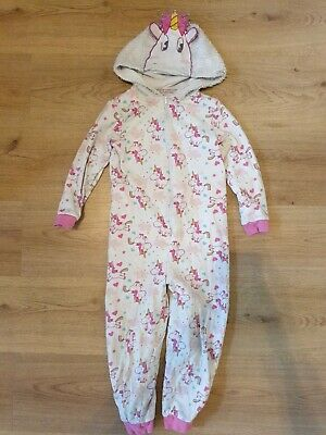 George girls Age 5 To 6 Unicorn All In One Sleepsuit Pjs Girls