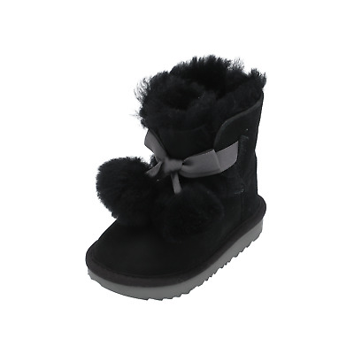 UGG Gita girls Boots Black Winter Booties Lace Shoes