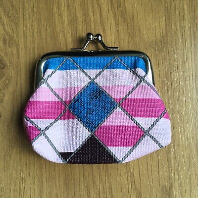 Kids Ladies Pink Diamond Print Small Coin Purse Xmas Gift Stocking Filler