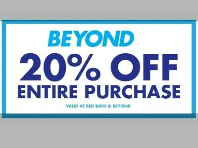 SPECIAL Bed Bath & Beyond Coupon 20% Off Entire Purchase Exp 2019