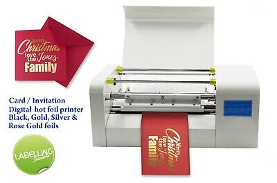Greetings card stationery printer metallic foil machine software included UK
