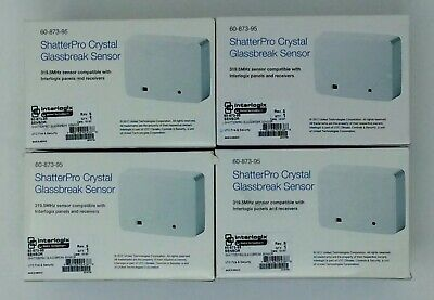 4 Interlogix/Ge Security 60-873-95 Shatterpro Crystal Glassbreak Sensors Alarm