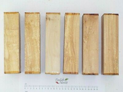 6 English Silver Birch woodturning or carving blanks.  50 x 50 x 205mm.  4102A