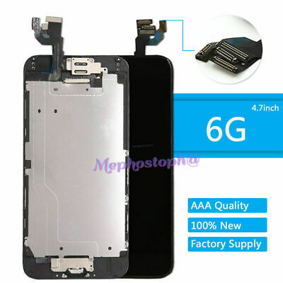 For iPhone 6 Full Screen Replacement Home Button LCD Digitizer Display Black
